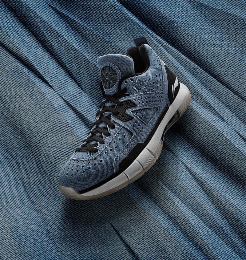 Li-Ning Men WOW 5 Denim Professional Basketball Shoes LiNing Cloud Bounse + wow5 Sneakers Way of Wade Sport Shoes ABAM057 XYL099 25
