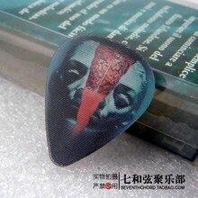 Neue einzigartige 3D bild 0,5 MM dicke plektren/gitarre paddel/gitarre abholen clips