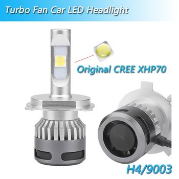 100% ORIGINAL CR-EE XHP70 h4 hi-lo led light for car 12v headlight led H7 H8 H9 H11 9005 HB3 9006 HB4 9012 HIR2 H4 car headlight
