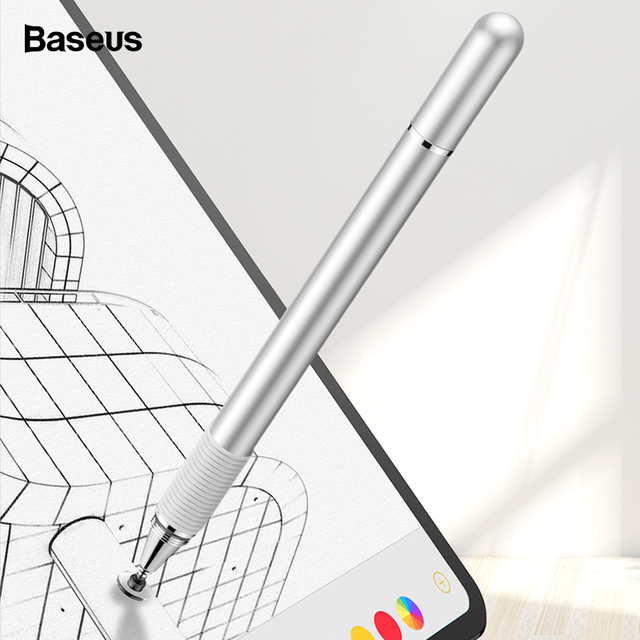 Baseus Stylus Capacitiva Caneta Lápis 2 Caneta Pen Touch Screen Para Apple iPad 10.5 12.9 2018 Tablet Telefone Inteligente iPhone penna Caneta