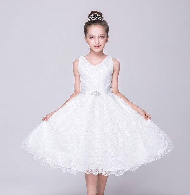 Kid Blau Lila Rot Weiß Spitze Kleid für Kleine Mädchen Junior ...