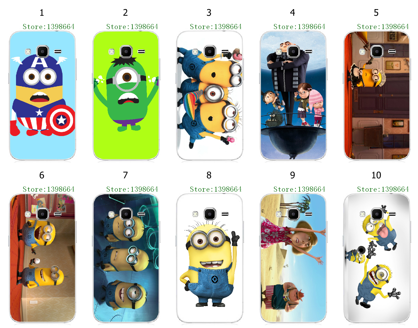 Phone Case for Samsung J3 Minions Despicable Me White Hard Cover Cases ...