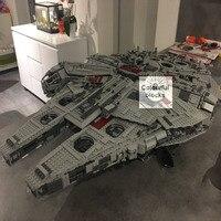 LEPIN 05033 5265Pcs Star Ultimate Collector S Millennium Wars Falcon Model Building Kit Blocks Bricks Compatible