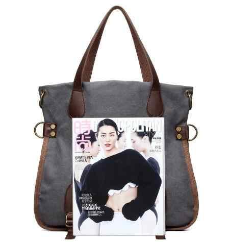 2017 Moda Grande Saco Das Mulheres Da Lona Das Senhoras Sacos de Ombro Bolsas mulheres de Marcas Famosas Grande Capitão para Compras Casuais Sacos Sac A principal