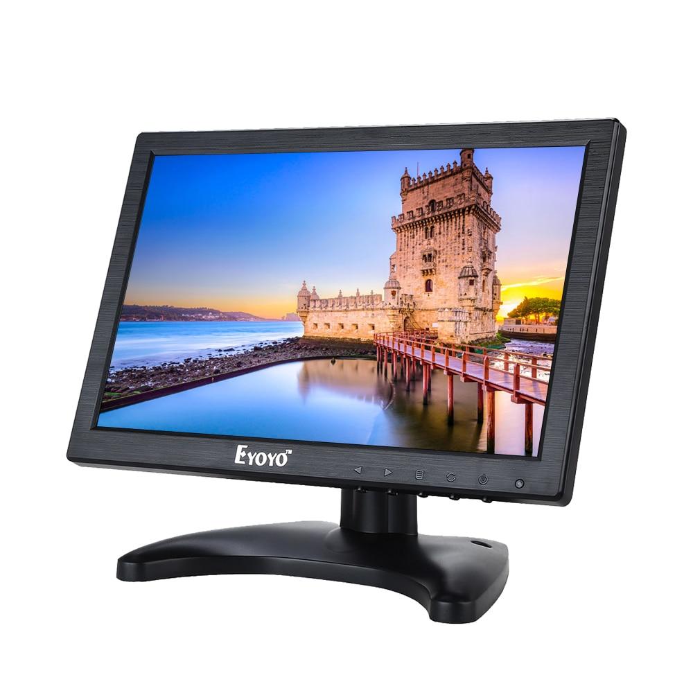 Eyoyo HD 10 IPS 1280*800 VGA HDMl AV Video LCD Display Monitor for CCTV DVD PC Game original genuine ips lcd b070ew01 v 0 v 1 hd 1280 800