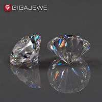 GIGAJEWE 1.0ct 6.5mm 8mm GH Color Round Cut Moissanite Stone DIY Gem Charms DIY Beads For Jewelry Making Fashion Girlfriend Gift