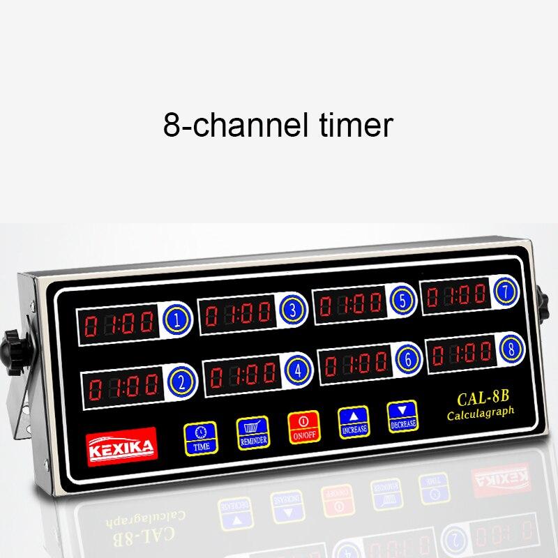Commercial eighth 8 channel key kitchen timer Digital button timing reminder Restaurant loud Alarm Countdown Hamburger shop universal oven timer buzzer alarm reminder