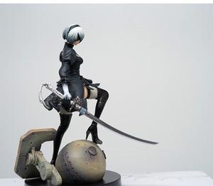 Image 3 - Модели NieR Automata YoRHa № 2, тип B 2B 9S, мультяшная игрушка, экшн фигурка, модель, кукла, рождественский подарок