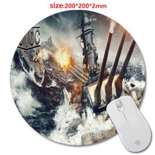 200 * 200 * 2 mm World of Warships 3D printing Round Rubber Soft Gaming Mouse pad lasting computers laptops mouse pad As Gift