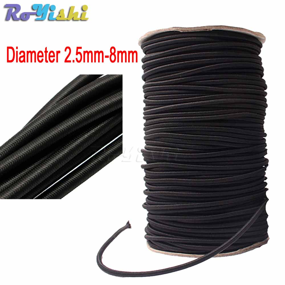 10 Meters Strong Elastic Rope Bungee Shock Cord Stretch String For DIY Jewelry Making Outdoor Project Tent Kayak Boat Backage