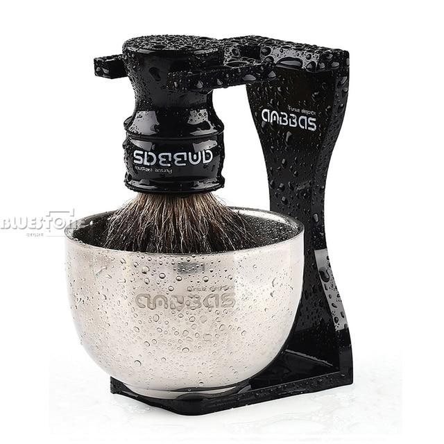 Anbbas Cắt Tóc Cạo Râu Bàn Chải Lửng Tóc, Đen Acrylic Đứng, Bát Bộ