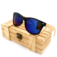 New Design Black Frame 4 Lens Wood Sunglasses Polarized Women Sun Glasses With Wood Case Cool