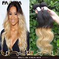 Best Quality Brazilian Virgin hair Body Wave 1B 613 Ombre Bleach Blonbe Wet And Wavy Virgin Brazilian Ombre Wavy Extensions