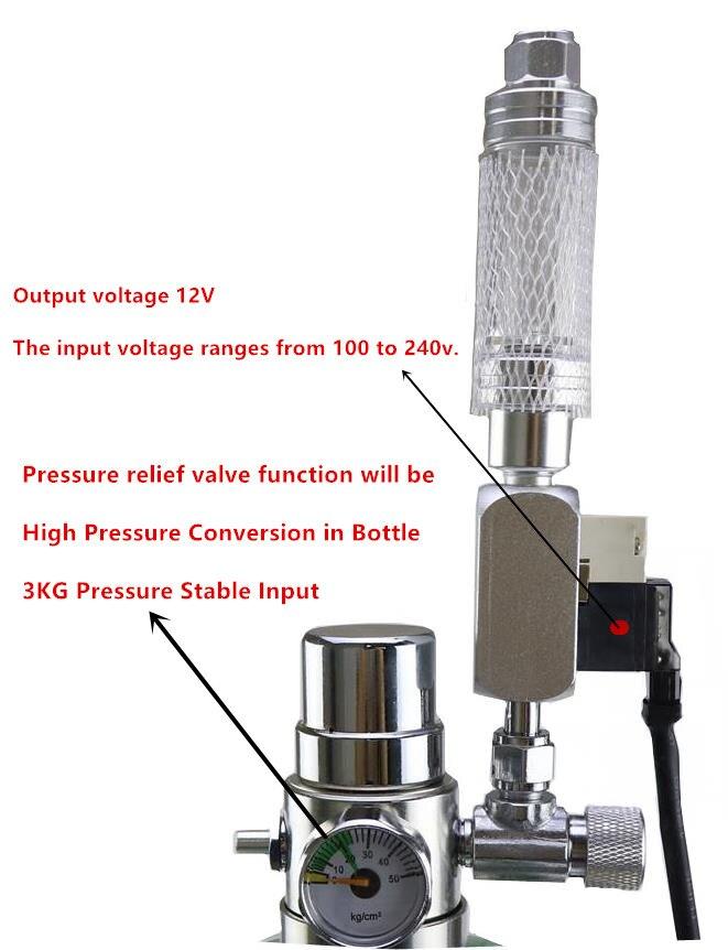 Kit de sistema de generador Wyin acuario DIY CO2 con ajuste de flujo de aire a presión planta de agua acuario valvedifuserla reacción - 4
