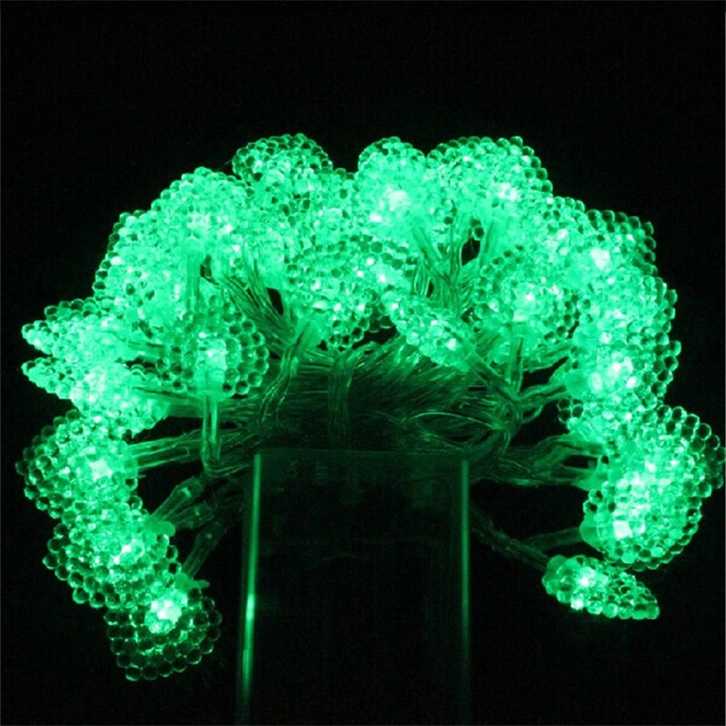 Battery operated led string light 5M 50led ball/star/batterfly shape led light outdoor decoration light home lamp