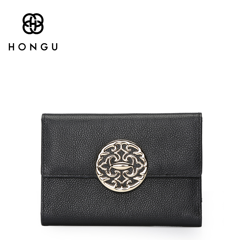 Women Wallets 100% Top Layer Cow Leather Lady Card bag Coin Purse Bifold Hasp Coin Purse Female Wallets Brand Short Girl bag