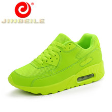 JINBEILE Newest Spring Autumn Running Shoes Outdoor Comfortable Women Sneakers Shoes Breathable Men Sport Shoes Size 35-44
