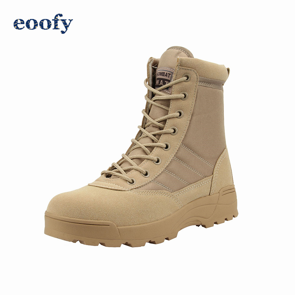 Desert Military Boots Men's Hilking Training Shoes Army Breathable Combat Ankle Boots Female