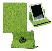 Luxury Grape Pattern pu leather case cover for Apple iPad 2 3 4,360 degree rotating stand 9.7