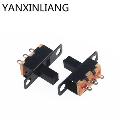 10pcs SS12D10 Vertical Slide Switch Toggle Switch 1P2T 3P Pitch 4.7MM、2018