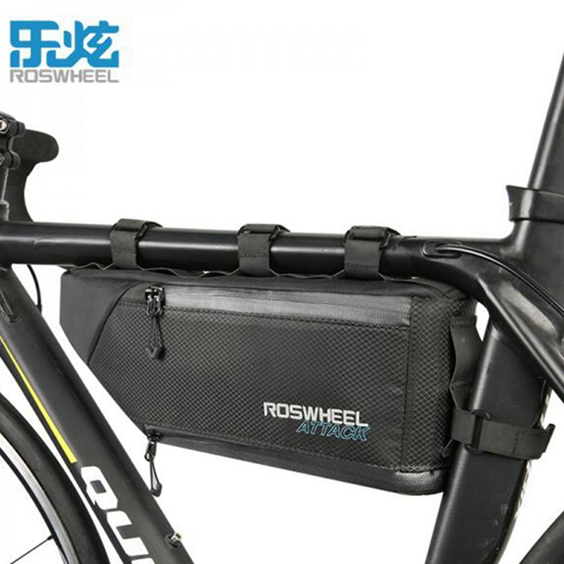 ROSWHEEL ATTACK 4L Bicycle Bag Race Waterproof Bike Bag Frame Corner Tube Triangle Bag Pouch Bycicle Cycling Bags Accessories