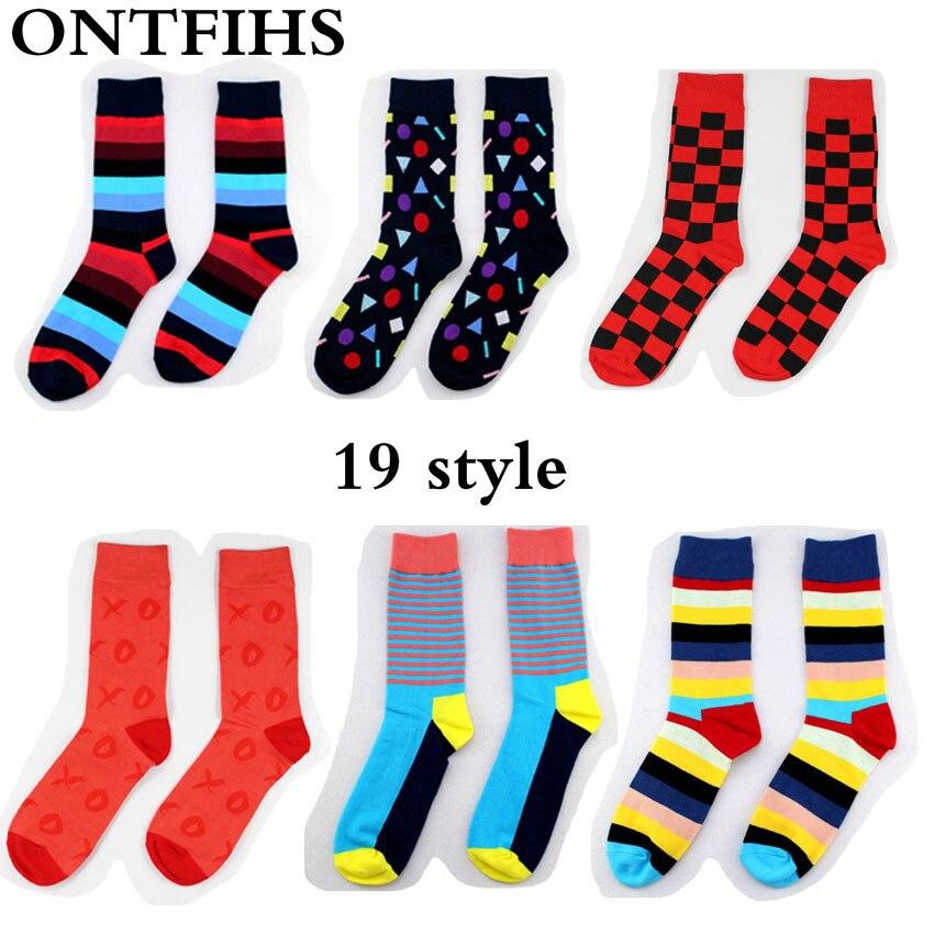 5 Pair/lot Happy Socks Plaid Socks Cotton Brand Harajuku Men Women Socks Lovers Colorful Dress Knit Crew Funny Socks H-5