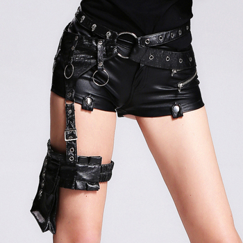 Devil Fashion Bags With Buckle Solid Black Waist Belt Bags With Skull Pockets Leather Waist Belt Package With Metal Loop AS01601 1