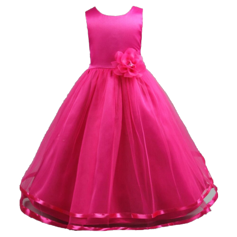 Teenage Princess girls rose red gold dress o-neck sleeveless Flowers kids party wedding dresses for girls 5 6 8 10 12 14 years baby girls party dress 2017 wedding sleeveless teens girl dresses kids clothes children dress for 5 6 7 8 9 10 11 12 13 14 years