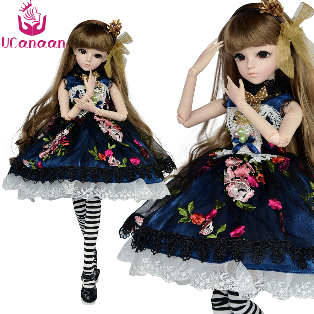 UCanaan 24 BJD Full Outfits 1/3 SD Dolls 60cm Ball jointed Doll With Accessories Action Figure Toy for Girls Collection 1pcs action figures toy kids gift collection for trumpeter 01524 1 35 flakvierling 38 sd kfz 7 1 late