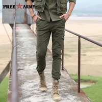 Free Army 2015 Fashion Brand Military Army Camouflage Cargo Pants Plus Size Multi Pocket Overalls Trousers