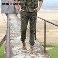 Pantalones de otoño de Los Hombres Delgados Pantalones de Invierno Militares Hombres Del Ejército Verde de Algodón Overoles Multibolsillos Hombres Pantalones Tácticos ropa MK-7136A