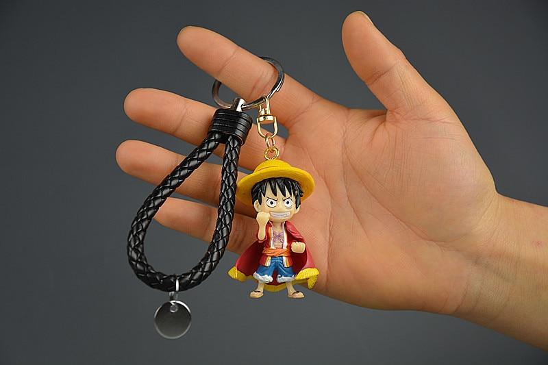 IVYYE 1PCS One Piece Luffy Anime Action Figure Key Chain PVC Figures Keyring Toys Keychain Keyholder Unisex Birthday Gifts NEW
