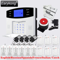 Big Promotions English Russian Spanish French Italian Voice Wireless GSM Alarm System Home Security Alarm Systems