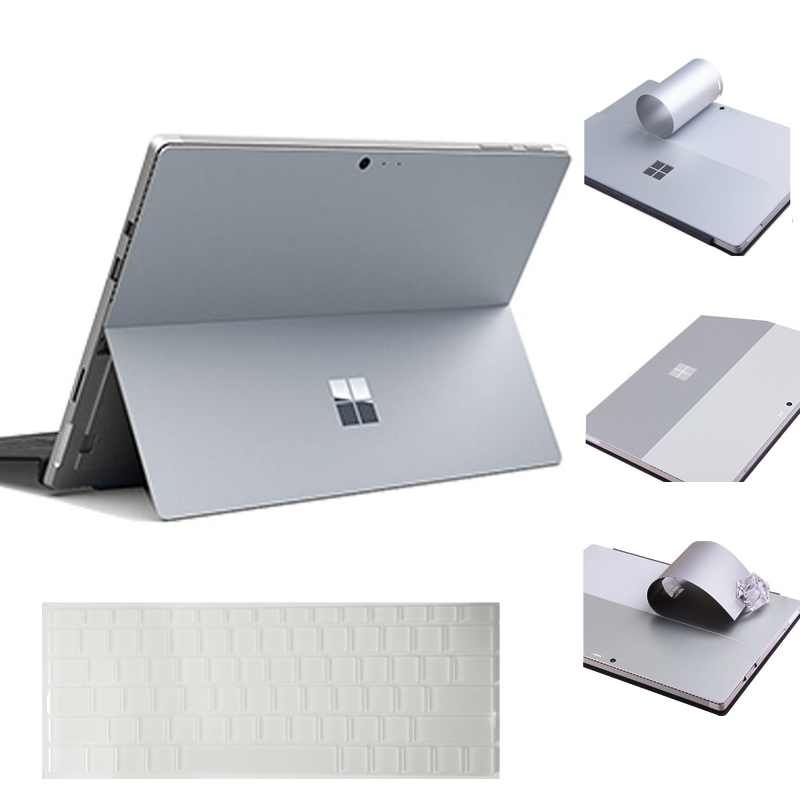 For Microsoft Surface Pro 4 Laptop Sticker Back Cover With Clear Keyboard Skin Anti-scratch Bubble Free Computer Removable Slim