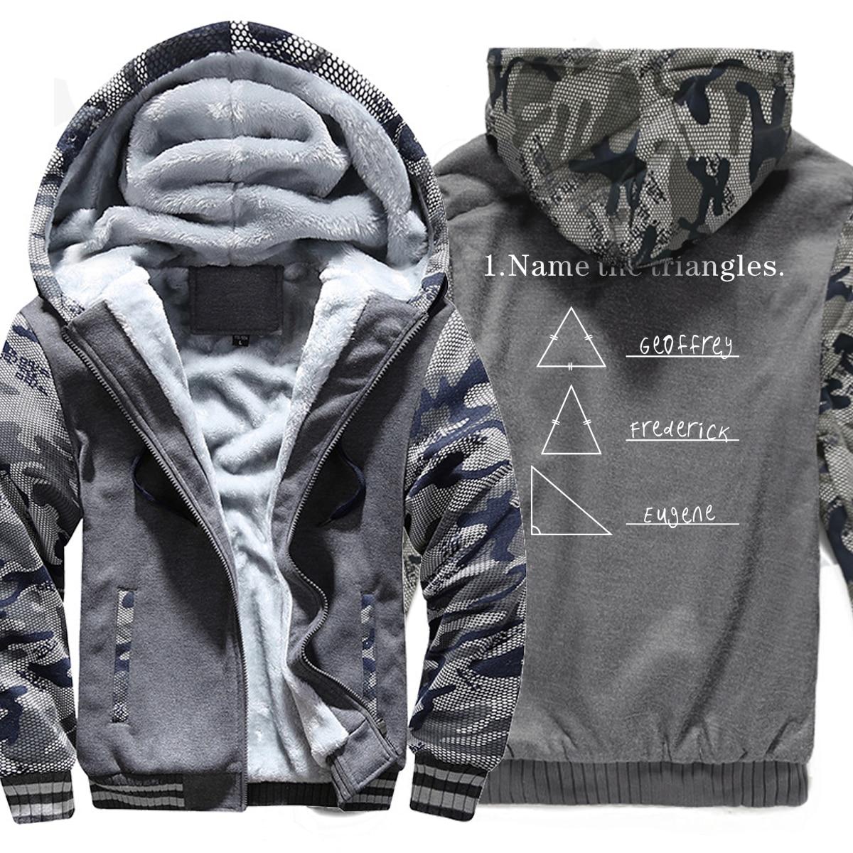 2019 New Fashion Streetwear Hoodies Male Print Name The Triangles Funny Hoody Thick Sweatshrit Men's Sportswear Hip Hop Jackets