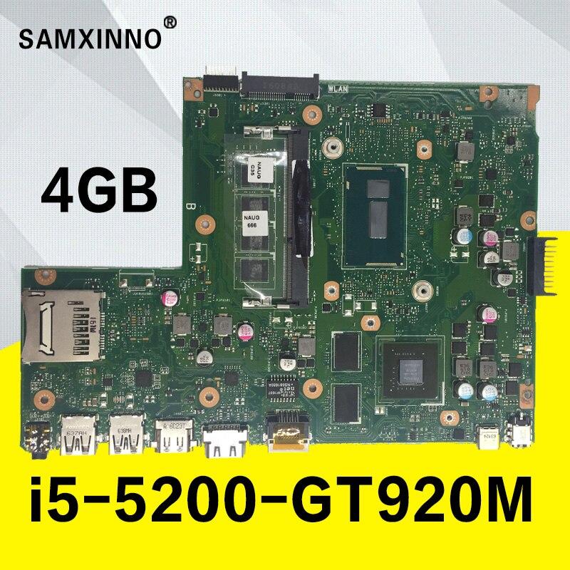X540LJ GT920M i5 5200U процессора 4 ГБ Оперативная память материнской Para ASUS X540L X540LJ F540L Материнская плата ноутбука 100% testado