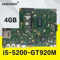 X540LJ GT920M i5 5200U процессор 4 Гб Оперативная память материнская плата для ноутбука ASUS X540L X540LJ F540L Материнская плата ноутбука 100% testado