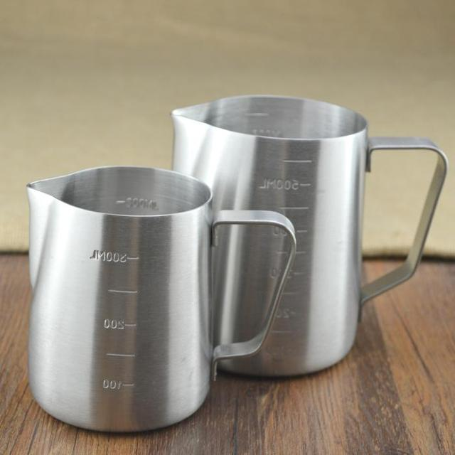 stainless steel milk frothing pitcher coffee frothing jug non stick coating for espresso maker. Black Bedroom Furniture Sets. Home Design Ideas