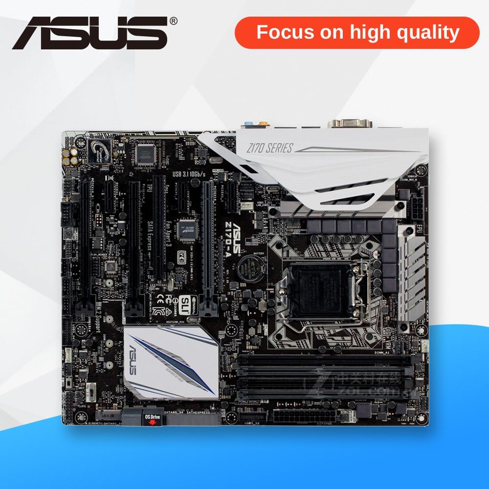 все цены на Asus Z170-A Desktop Motherboard Z170 Socket LGA 1151 i7 i5 i3 DDR4 64G SATA3 USB3.0 ATX On Sale онлайн