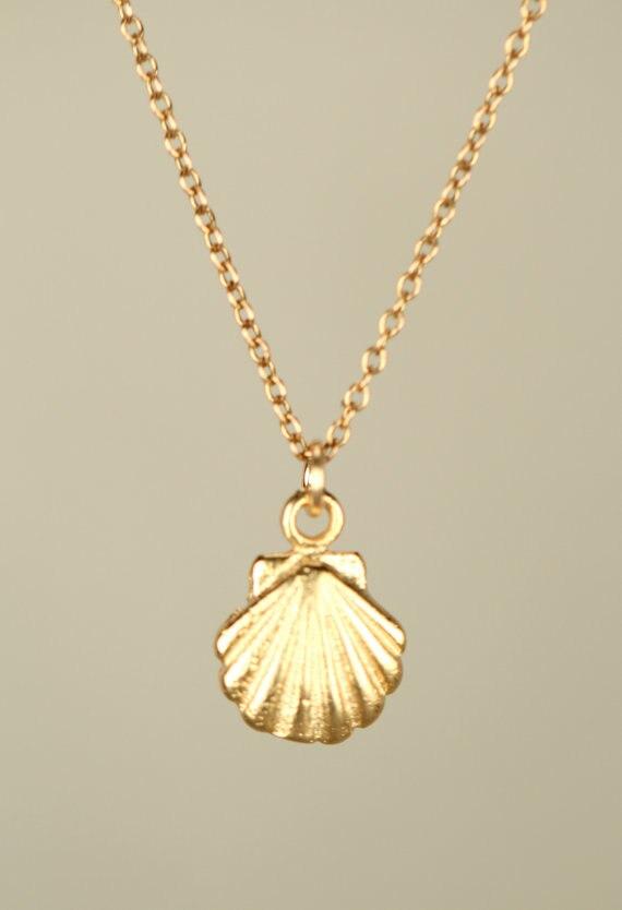 Kleine Muschel Unterwasser Anhänger mit Halskette Amulett