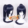 LoveLive SUNCOS Sol Matsuura kanan azul mix roxo longo 70 cm 28' cosplay peruca fibra resistência ao Calor + Cap