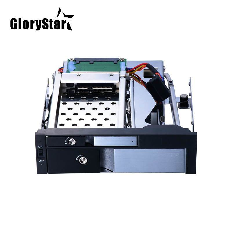 Glory Star Aluminum 2.5in SATA hard disk case and 3.5 mobile rack adapter to 5.25 internal hot swap mobile rack