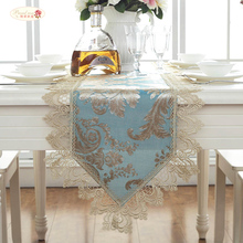 Proud Rose TV Cabinet Table Cloth Lace Table Runner  European Style Dustproof Cover Bed Flag Blue Tea Table Cloth proud rose luxury lace table runner romantic table flag embroidery cover towel tea table cloth tv cabinet towel