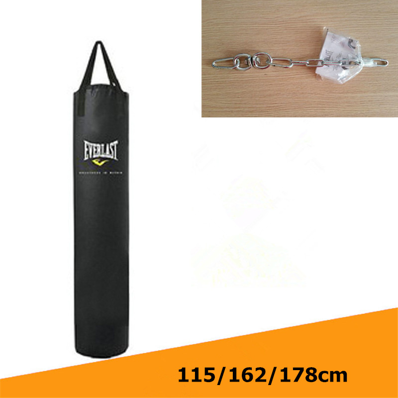 все цены на Kick Boxing Bag 115cm/162cm/178cm Training Fitness Punching Bag Saco De Pancada Boxeo Hook Hanging MMA Fight Sandbag (Empty)