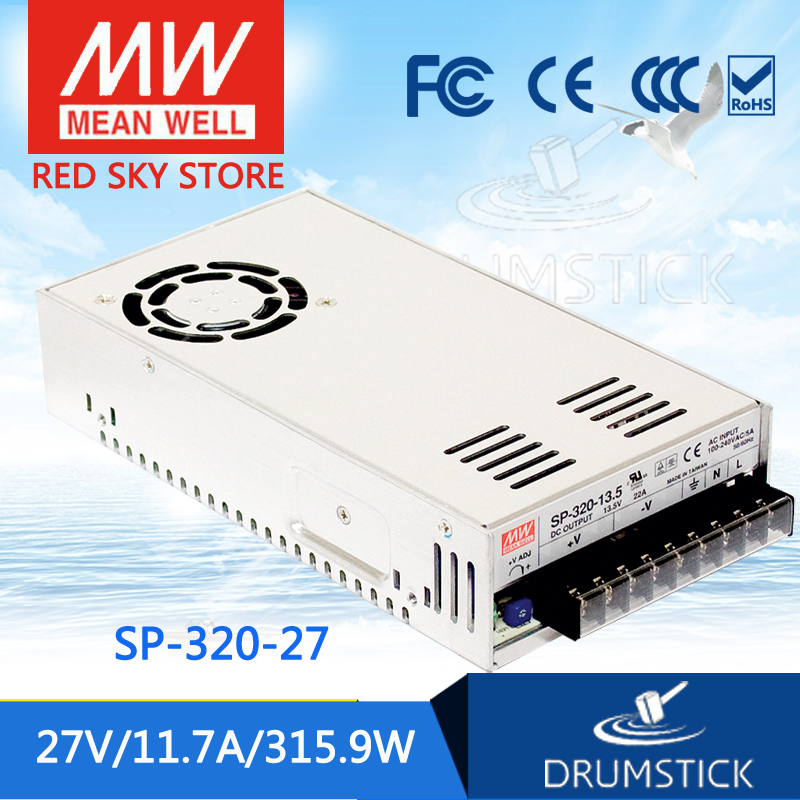 Hot! MEAN WELL SP-320-27 27V 11.7A meanwell SP-320 27V 315.9W Single Output with PFC Function Power Supply aaa mean well original sp 320 24 24v 13a meanwell sp 320 24v 312w single output with pfc function power supply