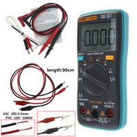 ANENG AN8002 Digital Multimeter 6000 Counts Backlight AC DC Ammeter Voltmeter Ohm Alligator Clip Jumper Wire