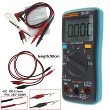 ANENG AN8002 multímetro Digital 6000 cuenta retroiluminación AC/DC amperímetro voltímetro Ohm cocodrilo clip jumper prueba cable