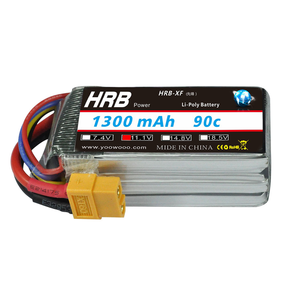 Image 2 - HRB Lipo Battery 2S 3S 4S 5S 6S 7.4V 11.1V 14.8V 18.5V 22.2V 1300mAh 1500mah 45C 65C 90C For Racing Drone FPV Quadcopter-in Parts & Accessories from Toys & Hobbies