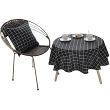 Geometric Round Table Cloth Tablecloth Nappe Table Cover Party Wedding Table Cloth for Home Table Decoration Mantel Home Textile novel circular mesh pattern lace round tablecloth transparent christmas party wedding tea table mat decoration mantel nappe