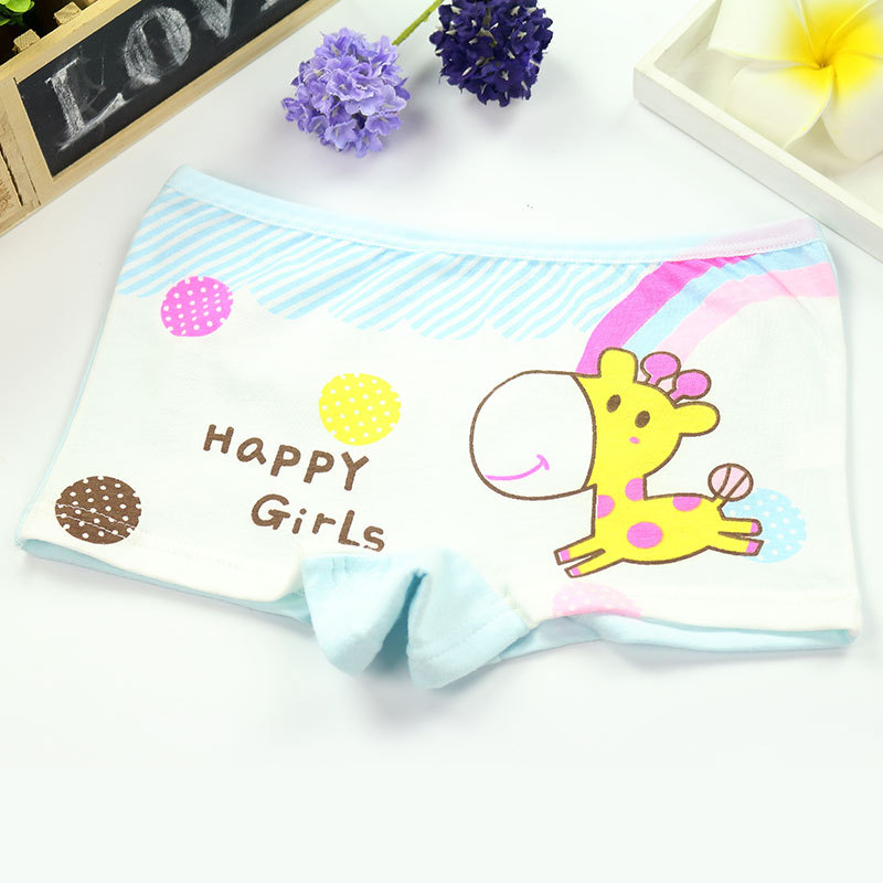 4Pcs/Lot Girls Underwear Children's Cotton Boxers Kids  Shorts Panites  Baby Girl Clothes for 2-10 years 5